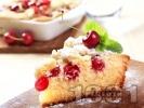 Рецепта Пухкав плодов сладкиш с череши